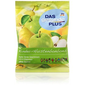 DAS gesunde PLUS Kids' cough drops in apple-pear flavor (sugar free) 75g