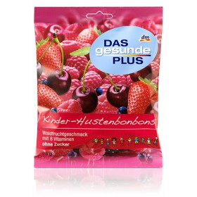 DAS gesunde PLUS Kids' cough drops in wild berry flavor 75g