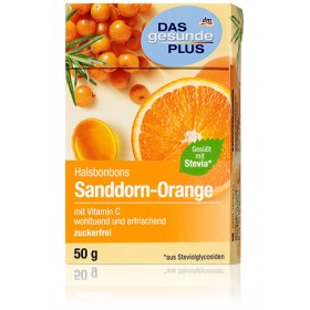 DAS gesunde PLUS Neck Candy Orange with Sea buckthorn candy 50g